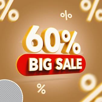 3d 60 por cento oferecem grande venda