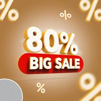 3d 80 por cento oferecem grande venda