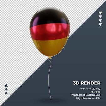 3d balloon germany bandeira realista renderização vista frontal