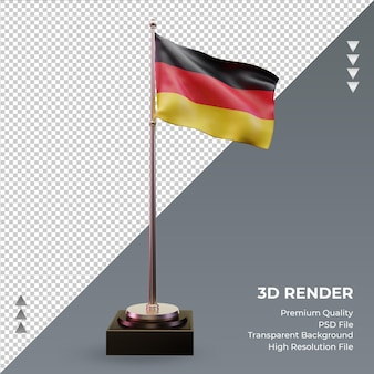 3d bandeira alemanha renderizando vista frontal Psd Premium