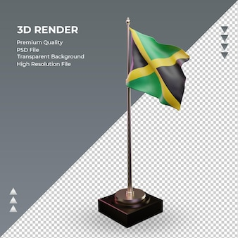 3d bandeira jamaica renderizando vista correta