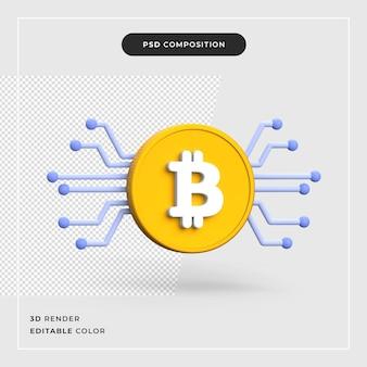 3d bitcoin criptomoeda