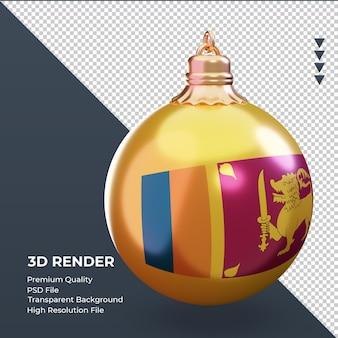 3d bola de natal bandeira do sri lanka renderizando a vista esquerda