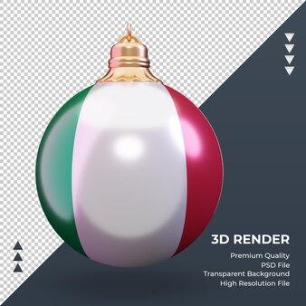 3d bola de natal da itália com renderização vista frontal