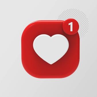 3d brilhante como ícone do instagram isolado