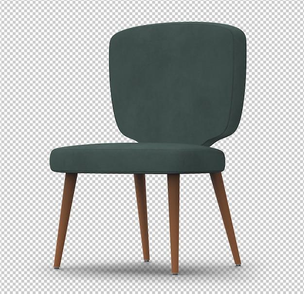 3d cadeira retro isolada