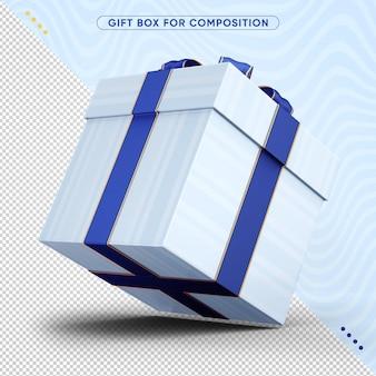 3d caixa de presente de feliz aniversário Psd Premium