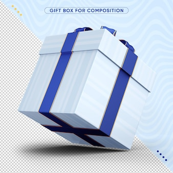 3d caixa de presente de feliz aniversário
