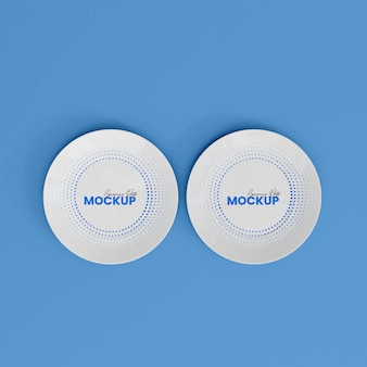 3d ceramic plate mockup