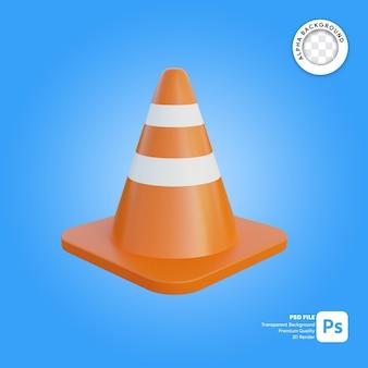 3d cone de tráfego simples objeto
