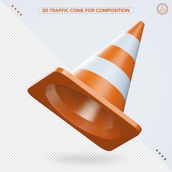 3d cone de tráfego voando