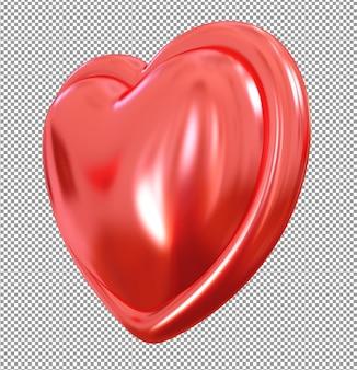 3d coração vermelho