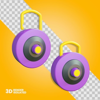3d desbloquear e bloquear ícone de cadeado isolado