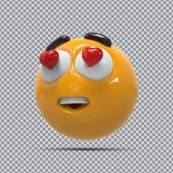 3d emoji divertidos olhos amor