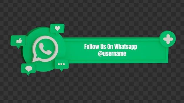 3d entre em contato conosco no whatsapp nome de usuário de mídia social