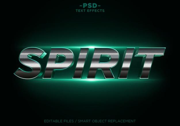 3d espírito verde glitter dourado efeitos texto editável