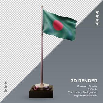 3d flag bangladesh renderizando vista frontal