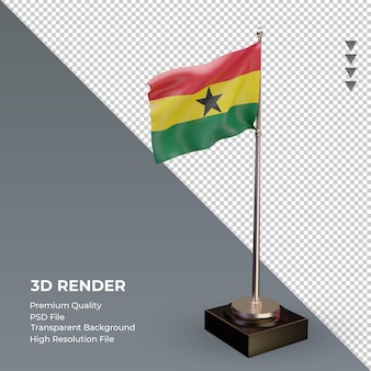 3d flag gana renderizando a vista esquerda