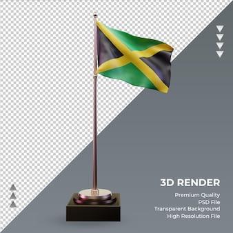 3d flag jamaica renderizando vista frontal