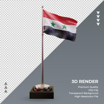 3d flag syria rendering front view