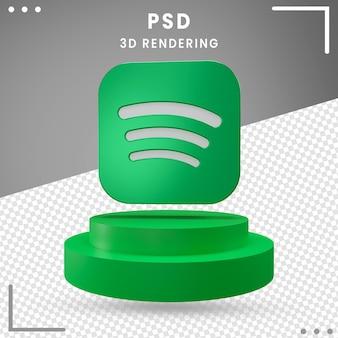 3d girado logotipo spotify isolado