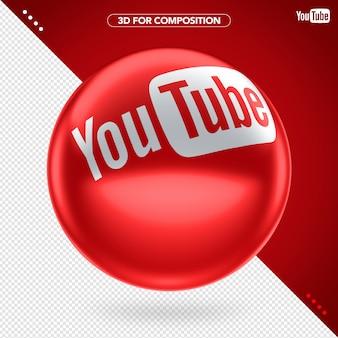 3d girado vermelho elipse youtube