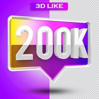 3d icon instagram 200k seguidores renderizados