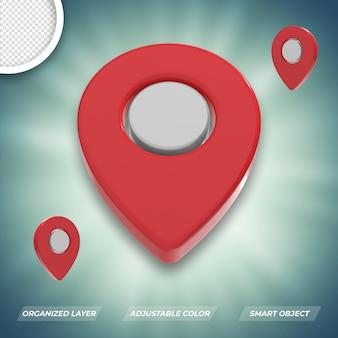 3d ícone de localização premium psd