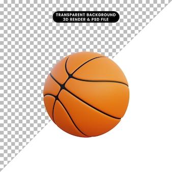 3d ilustração objeto simples basquete