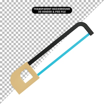 3d ilustração simples objeto serra