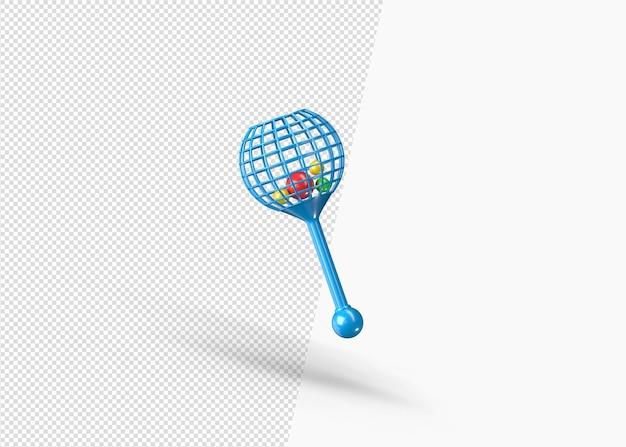 3d jingle bell baby toy renderização isolada