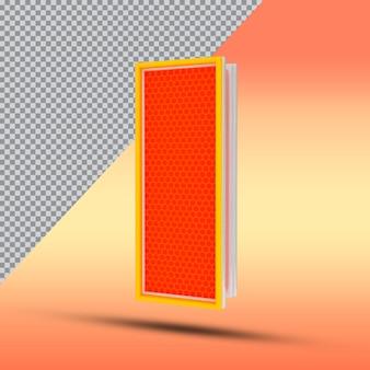 3d letters i effect style cor laranja