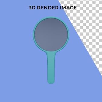 3d lupa de renderização premium psd