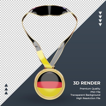 3d medalha alemanha bandeira renderizando vista frontal