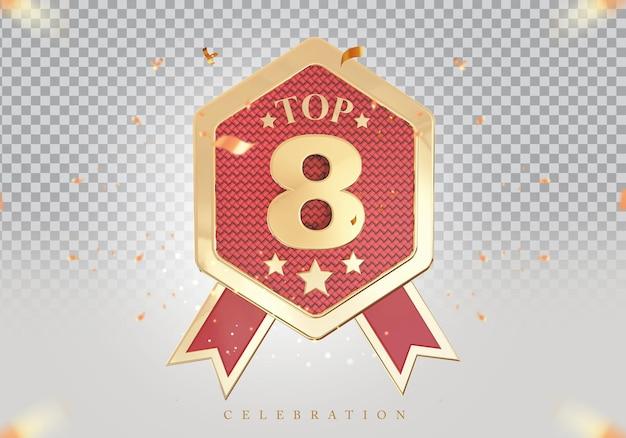 3d melhor sinal de prêmio do pódio dourado