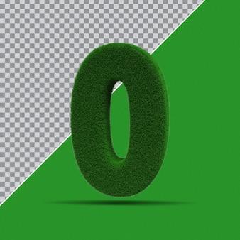 3d número 0 da grama