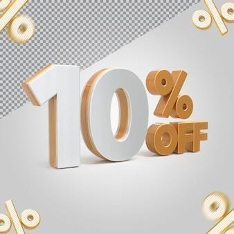 3d número 10 por cento de oferta