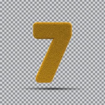 3d número 7 da grama amarela