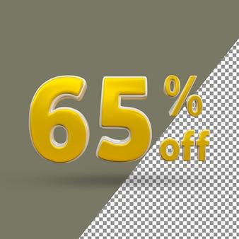 3d número de texto dourado com 65% de desconto