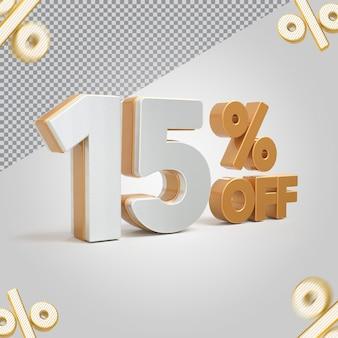 3d número oferta de 15 por cento