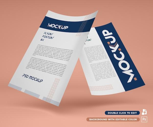 3d paper mockup a4