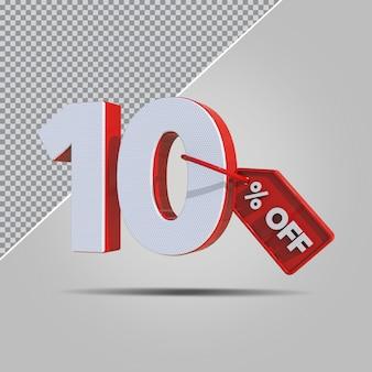 3d percentagens 10 por cento da oferta