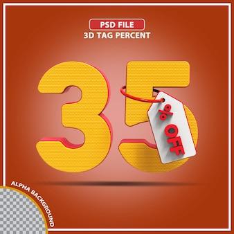 3d percentagens 35 por cento da oferta