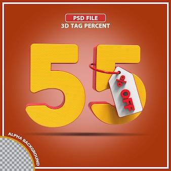3d percentagens 55 por cento da oferta