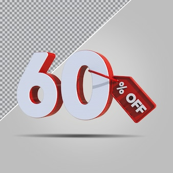 3d percentagens 60 por cento da oferta