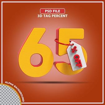 3d percentagens 65 por cento da oferta