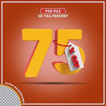 3d percentagens 75 por cento da oferta