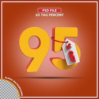 3d percentagens 95 por cento da oferta