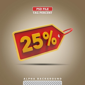 3d porcentagem 25 por cento