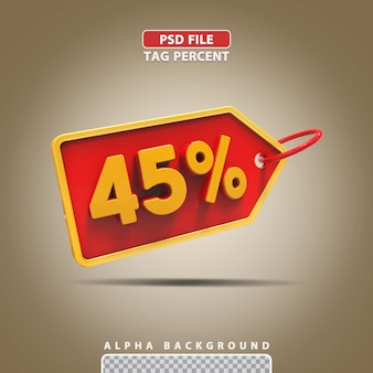 3d porcentagem 45 por cento
